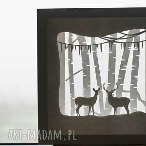 lightbox - papierowa dekoracja przestrzenna, papierówka, zima, 3d