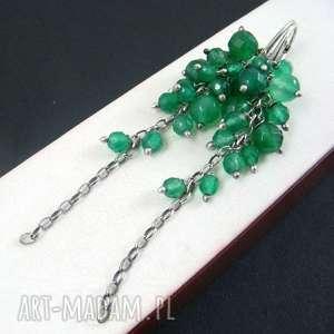 świąteczny prezent, onyks zielony grona, onyks