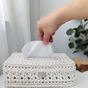 ręcznie wykonane pudełka chustecznik bawełniany gwiazdki