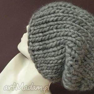czapki 100 wełna syberianka, grubaśna, ścieg, zimowa, wool