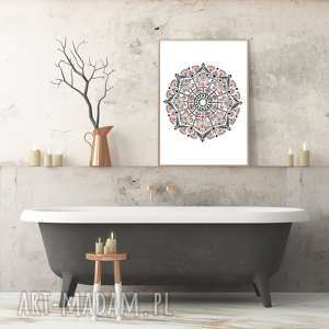 Mandala 50x70cm malgorzata domanska plakat, mandala, sztuka