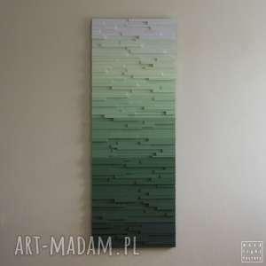 wood light factory mozaika, obraz drewniany zielony spokój, na zamówienie