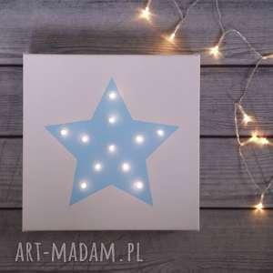 hand-made pomysł na świąteczny prezent świecący obraz gwiazda lampka dekoracja