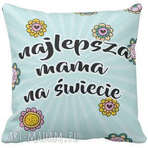 Prezent Poduszka dekoracyjna najlepsza mama na świecie na Dzień Mamy Matki