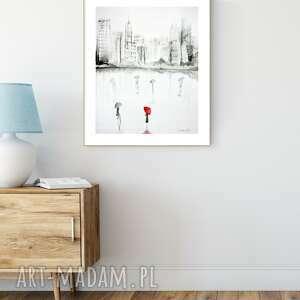 Obraz 40x50 cm wykonany ręcznie, abstrakcja, do salonu