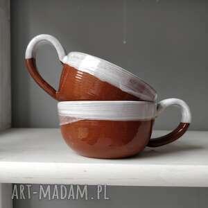 hand-made ceramika zestaw dwóch filiżanek