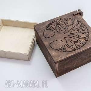 szkatułka na biżuterię logo firmy projekt, szkatulka