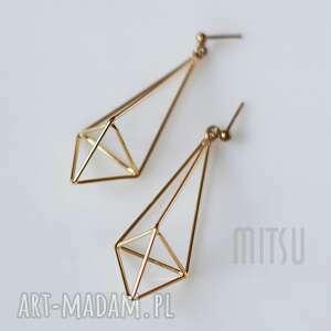 kolczyki for the love of geometry, złote, geometryczne, geometria, nowoczesne