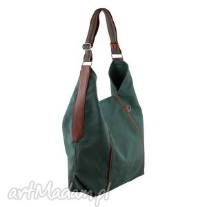 handmade na ramię furia - torba worek - ciemnozielona