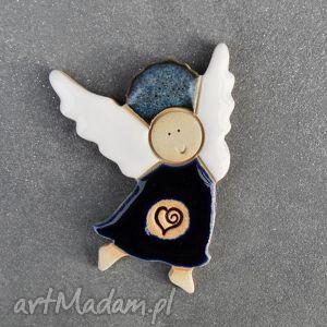 magnesy walentynkowy aniołek , magnes, ceramiczny, aniołek, walentynki, prezent, pod