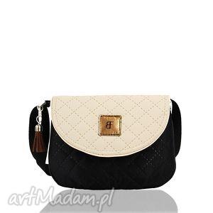 torebka dla dziewczynki 239 sweet love czarno-kremowa - dziewczynki, torebeczka, mała