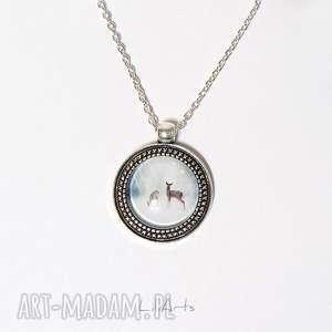 medalion, naszyjnik - sarenki 2 cm, naszyjnik, sarenki, leśny