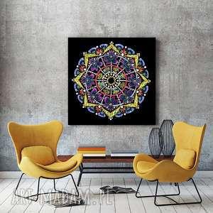 mandala 50x50cm, mandala, etno, folk, sztuka, grafika, plakat