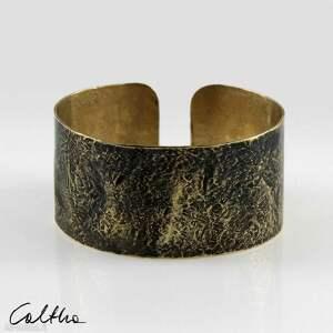 caltha kamień - mosiężna bransoleta 200207-02, bransoletka, bransoleta