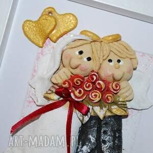 kochajcie się moooocno - aniołki prezent na ślub lub jubileusz, anioły, masa