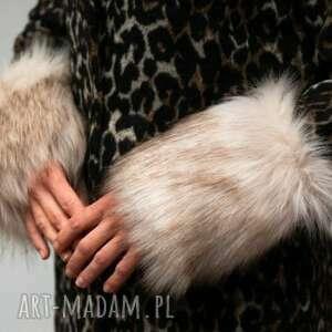 hand made rękawiczki mankiety z futra naturalne