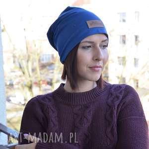 gładka granatowa czapka beanie unisex, czapka, beanie, gładka, prezent