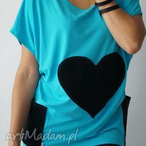 bluzki heartbeat - lilyo rozm s, serce, kieszonki, nietoperzowa, cienka
