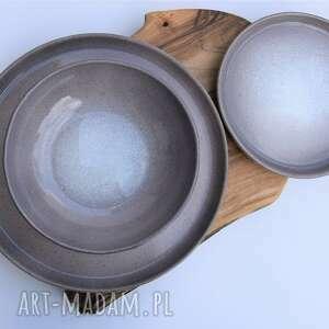 Zestaw ceramiczny - talerz miseczka talerzyk ceramika tyka