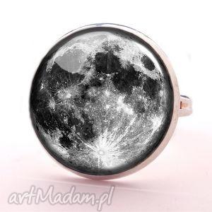 egginegg pełnia księżyca - pierścionek regulowany, kosmiczny