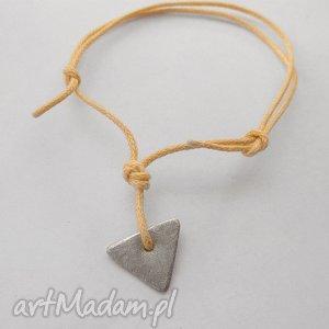 ręcznie zrobione trojkąt bransoletka
