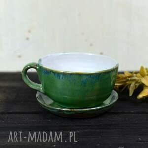 ręcznie zrobione ceramika filiżanka klasyczna do kawy | herbaty zielona 350
