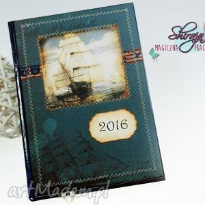 kalendarz 2016 -morskie wyprawy, kalendarz, książkowy, 2016, morze, statek