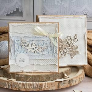 hand-made scrapbooking kartki wyjątkowa pamiątka ślubna. Kartka warstwowa w warstwowym