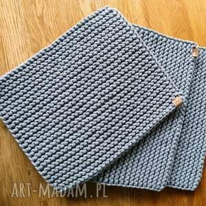 zestaw 3 podkładek ze sznurka bawełnianego, podkładki na stół