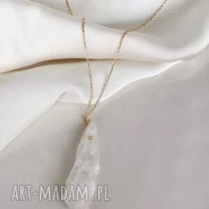 handmade naszyjniki naszyjnik - kwarc biały