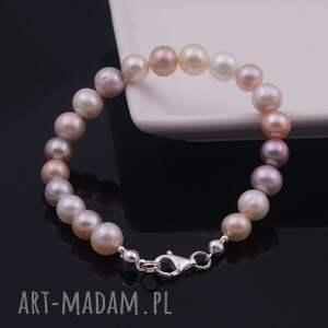 Perłowa elegancja, bransoletka z naturalnych pereł - ręcznie robione