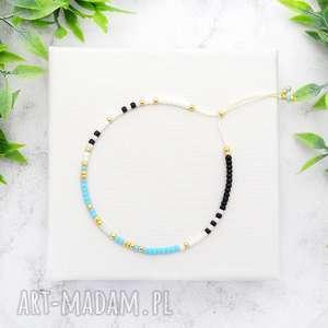 ilovehandmade bransoletka minimal dots - light blue, bransoletki, koralikowe