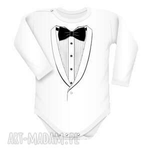 Body z koszula i muchą - body, eleganckie, koszula, frak, indywidualne