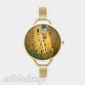 Prezent Zegarek z grafiką KLIMT KISS , klimt, sztuka, reprodukcja, obraz, prezent