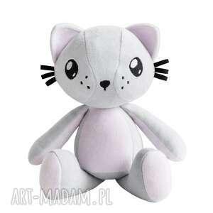 kot przytulanka poofy cat plushee szaro-różowy, kot, kotek, maskotka