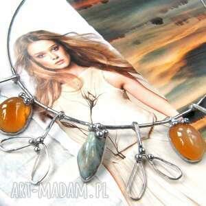 ręcznie robione naszyjniki naszyjnik jemioła: kwamaryn karneol