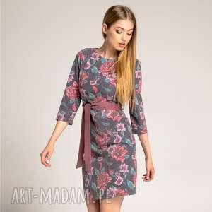 Sukienka Dahlia Fog, sukienka-w-kwiaty, wzorzysta-sukienka, dżinsowa-sukienka