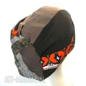 handmade czapki czapka damska patchworkowa przejściówka boho
