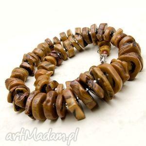 handmade naszyjniki koral w karmelu b268