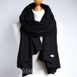 czarny szal chusta szalik bawełniany na jesień, szal, apaszka, chusta