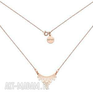 naszyjnik z różowego złota z rozetką - różowezłoto