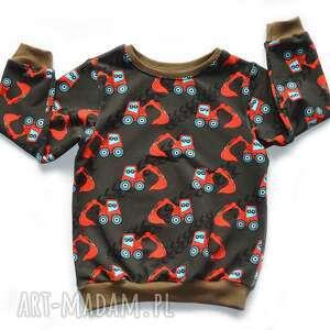 brązowa bluza z korapkami, bawełniana dla chłopca, rozmiary 68-128