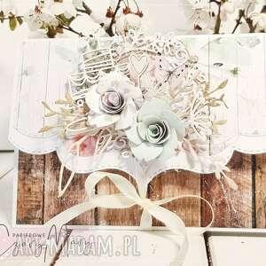Pamiątka ślubu #202 scrapbooking kartki papierowe czary mary