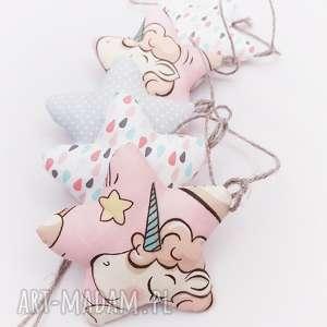 handmade pokoik dziecka girlanda gwiazdki unicorn