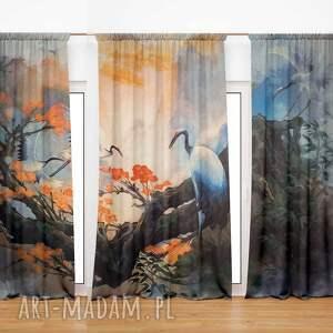 dekoracje komplet zasłon welurowych landscape, zasłony