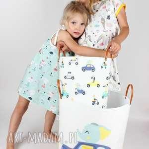 handmade pokoik dziecka komplet dwóch pojemników w zwierzaki