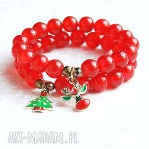 rudolph ii świąteczna bransoletka, renifer, mikołajki, prezent, święta