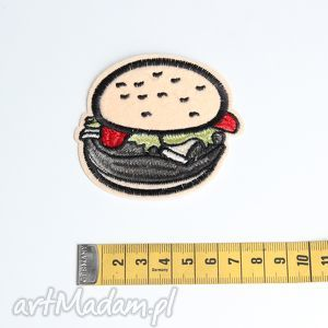 Naszywka aplikacja Hamburger, naszywka, haft, aplikacja, hamburger, dodatek, torebka