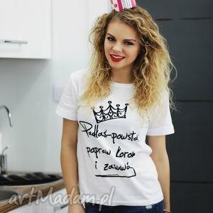 ręcznie zrobione bluzki fajna koszulka biała z napisem nadrukiem