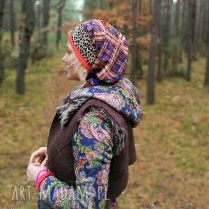 Czapka damska długa wiszące smerfetka orientalna boho czapki